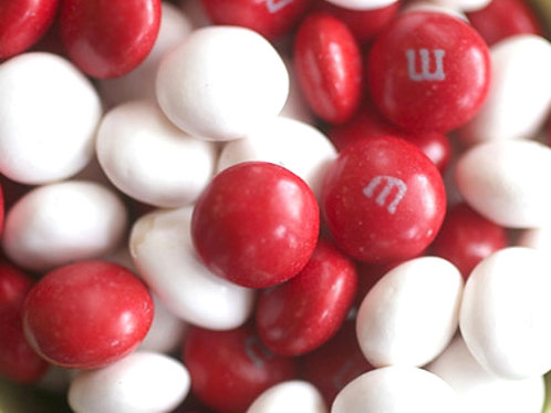 Peppermint White M&Ms Chocolate Candy - Choose weight 6-40 LBs