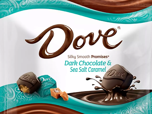 Dove Dark Chocolate & Sea Salt Caramel Promises Wrapped candy  2 - 12 LBs