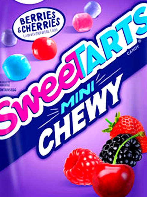 Wonka Berries & Cherries Chewy Mini Sweetarts Bulk Candy - Choose 5  - 40 LBs