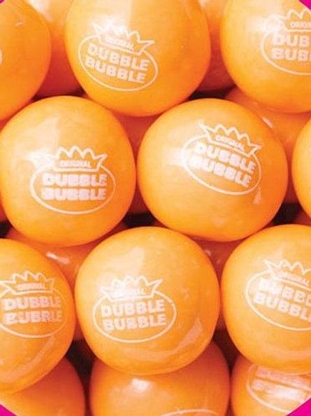 "Orange Sherbert Dubble Bubble 1"" Gumballs     Choose Weight   4 - 30 LBs"