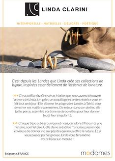 Modames aime Linda Clarini Bijoux. Online shops