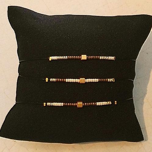 Bracelet CRISTAL MARRON GLACE
