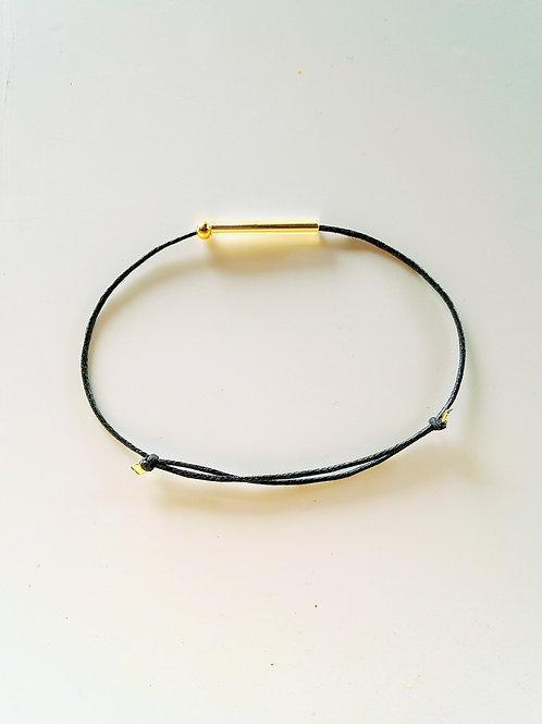 Bracelet DUNE coton noir