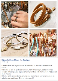 Linda Clarini Bijoux partenaire beauté de Bijoux Cailloux Choux Mulhouse 68100. Magasins, shops, conceptores. MulhousSupport à bijoux Linda Clarini Bijoux bois et cuivre.
