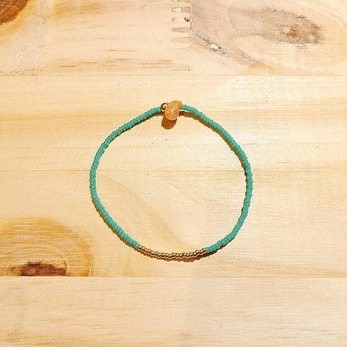 Bracelet LILI TURQUOISE FONCE Gold