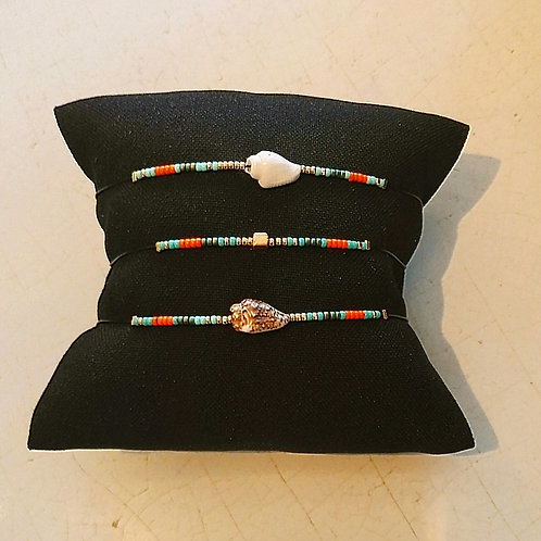 Bracelet BLACK MAMBA Orange Turquoise foncé