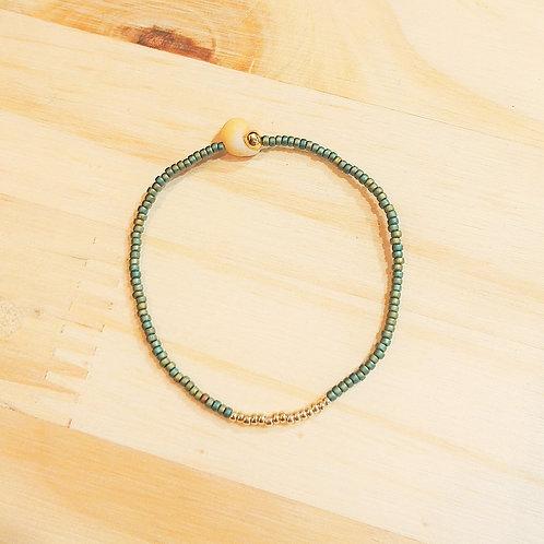 Bracelet LILI KAKI MAT Gold