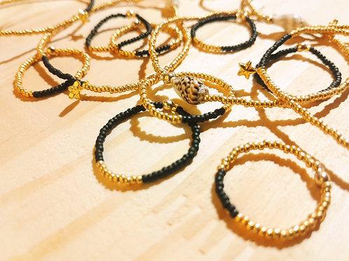 Bagues et bracelets LILI STAR Noir