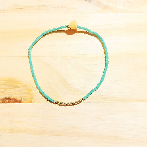 Bracelet LILI KIDS Turquoise clair Gold
