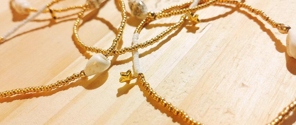 Bagues et bracelets Or et Blanc pour BYS