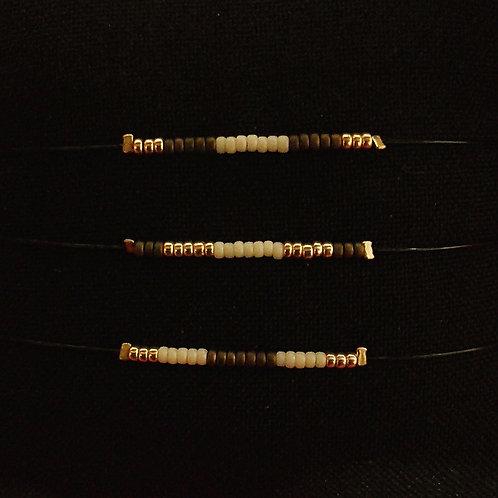 Bracelet 3 COULEURS MARRON