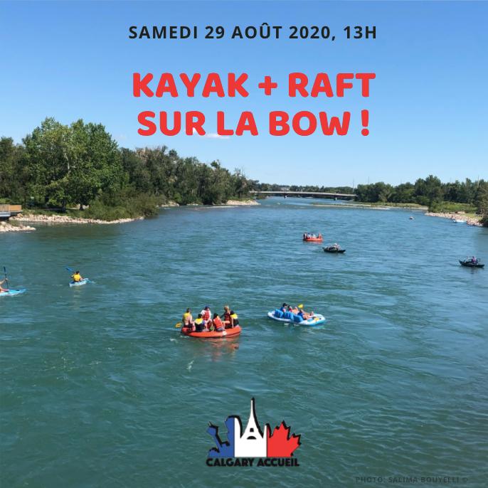 Kayak + Raft sur la Bow River