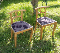 Duo de chaises de bridge années 40