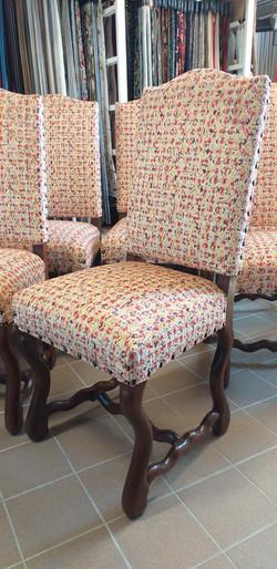 Série 6 chaises Louis XIV
