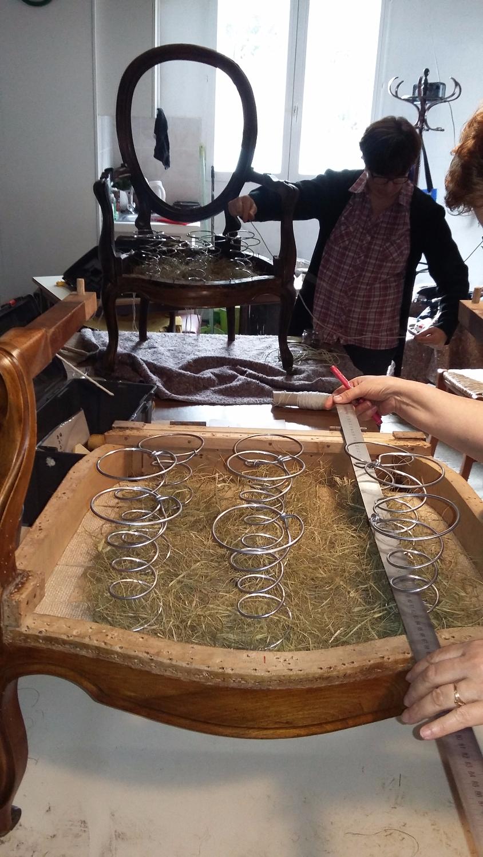 Cours de tapisserie : Les ressorts