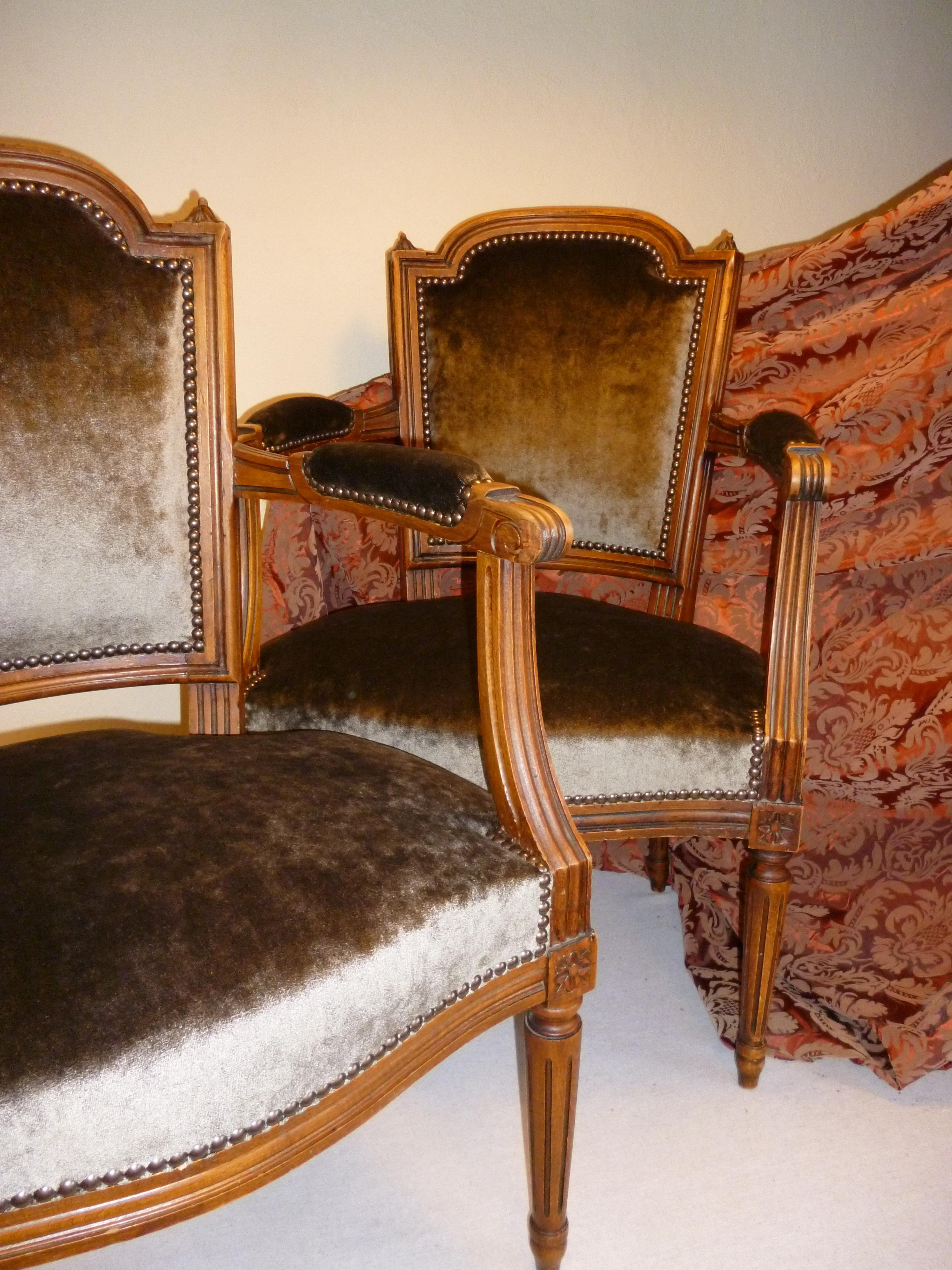Fauteuils Cabriolets Louis XVI