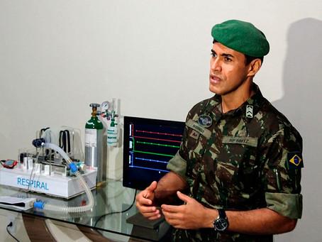 Sargento do exército brasileiro coordena projeto de desenvolvimento de respirador mecânico de baixo
