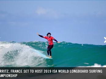 ISA快訊: 2019 ISA 世界長板衝浪錦標賽 將在法國比亞里茨將舉辦