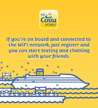 Онлайн-приложение My Costa Mobile для пассажиров Costa Cruises