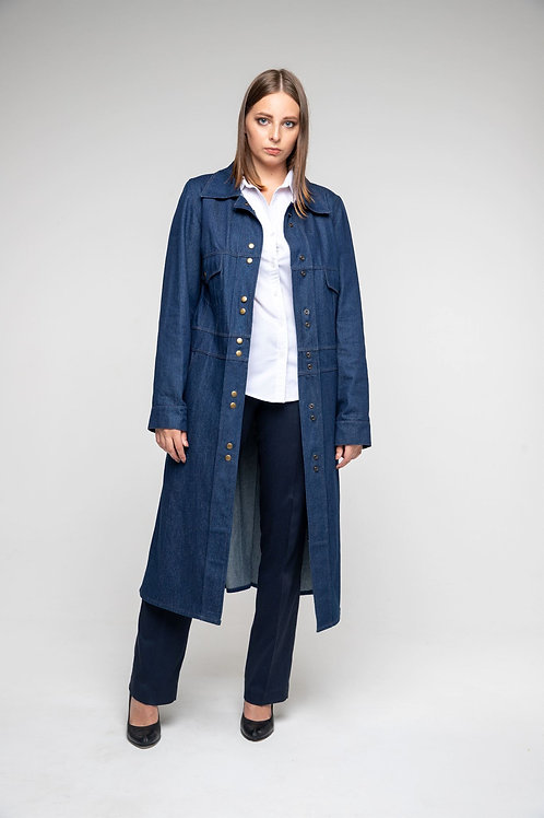 Пальто джинсовое женское