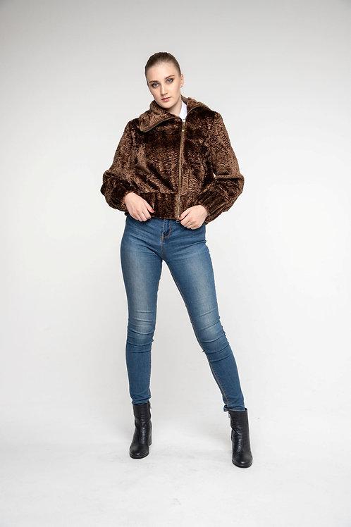 Куртка с косой застежкой