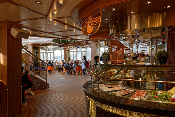 Costa Diadema питание на борту