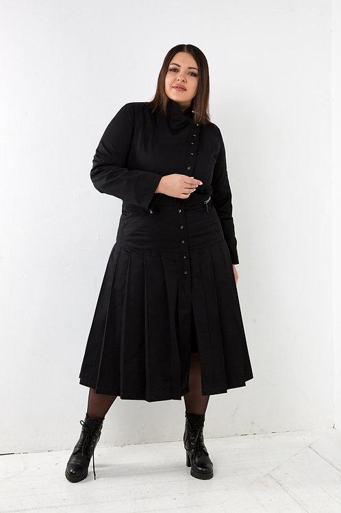 Пальто со складками
