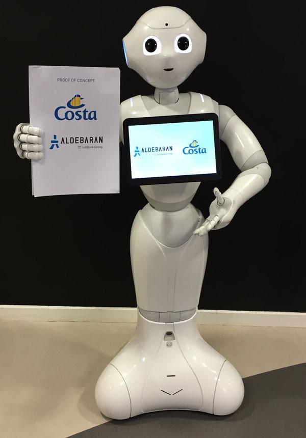 Costa Cruises Costa Diadema Робот Pepper на борту