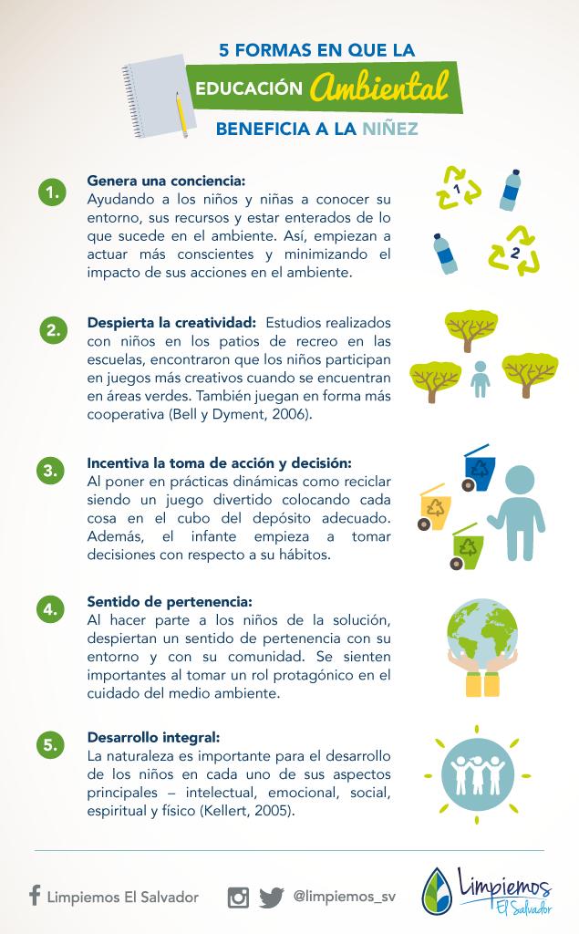 5 formas en que la educación ambiental beneficia a la niñez