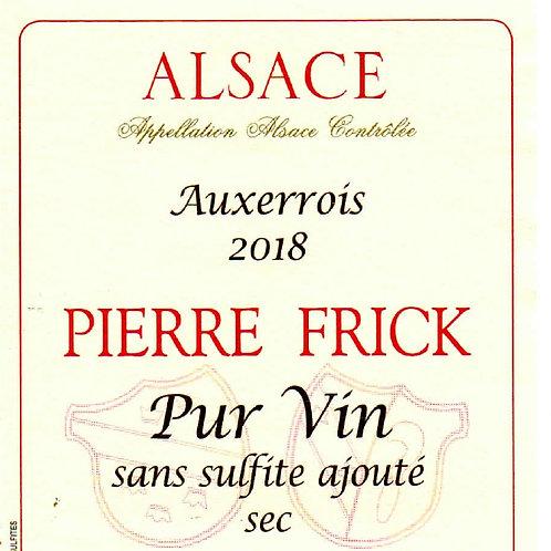 Auxerrois Carrière, 2018 Pierre Frick (Thomas, Cécile, Chantal et Jean-Pierre F)