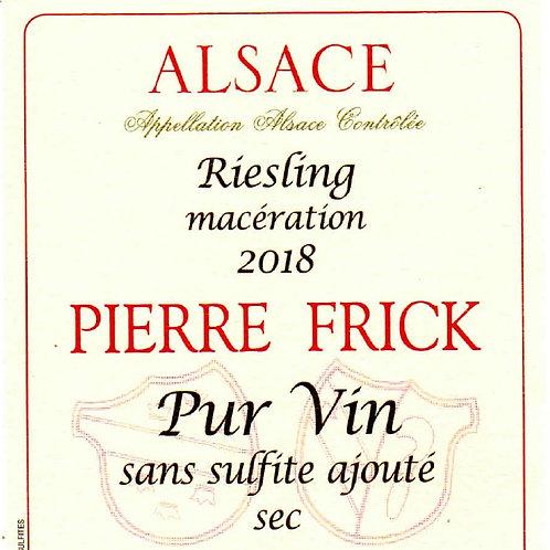 Riesling Carrière, 2018 Pierre Frick (Thomas, Cécile, Chantal et Jean-Pierre F)