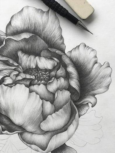 Графика. Цветок