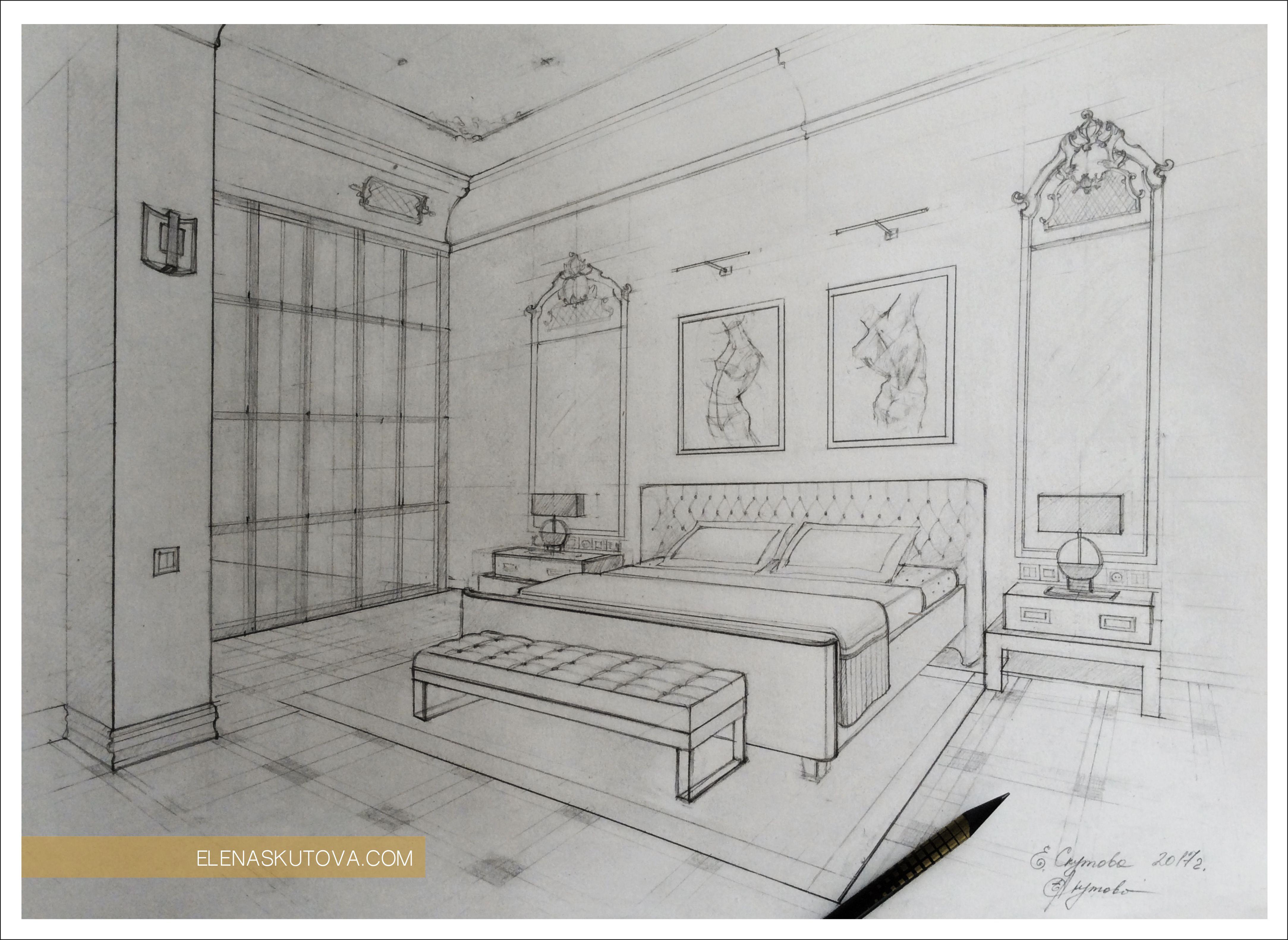 Эскиз спальной