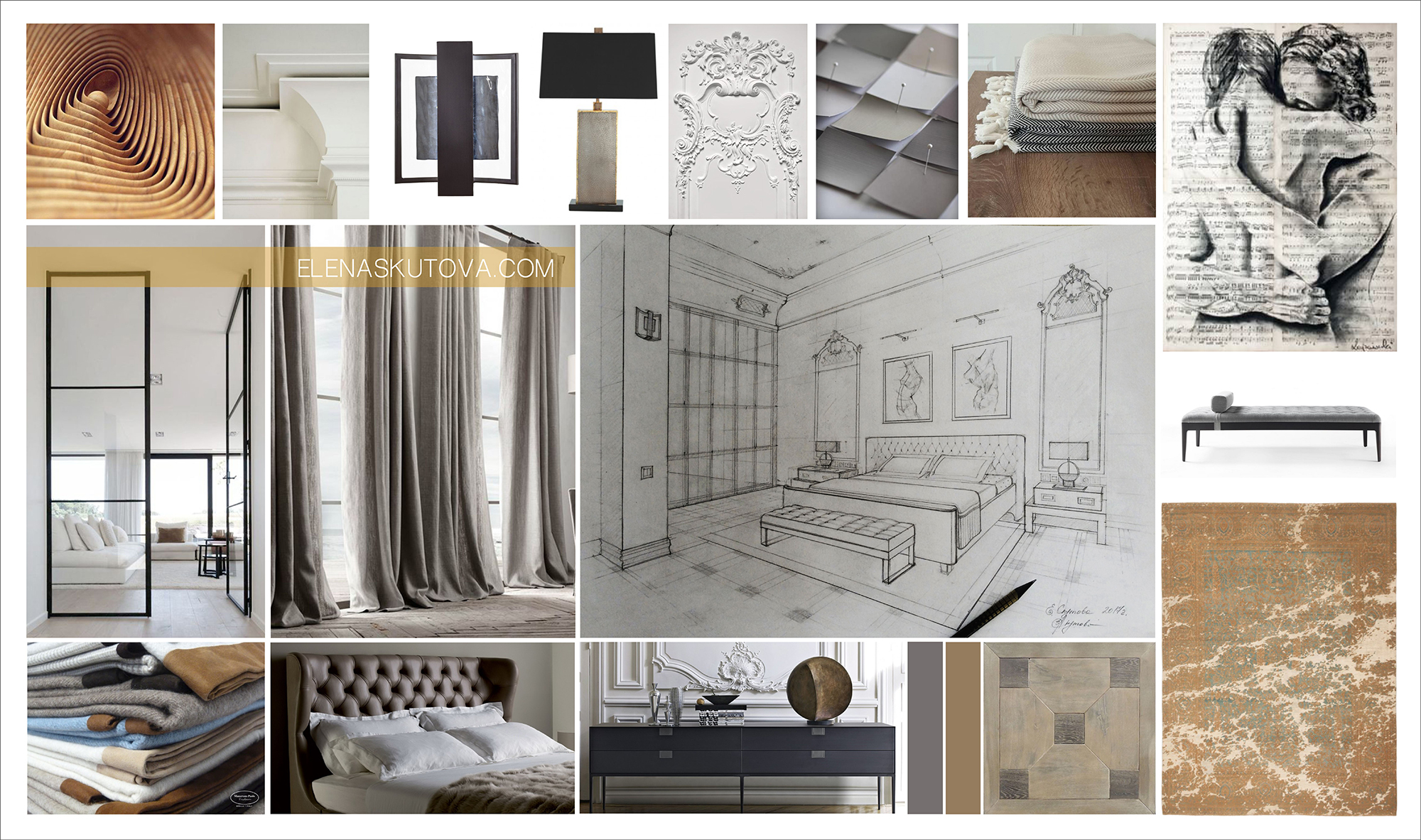 Концепция спальной комнаты