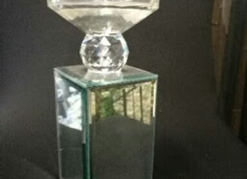 CANDLE HOLDER MIRROR H30CM