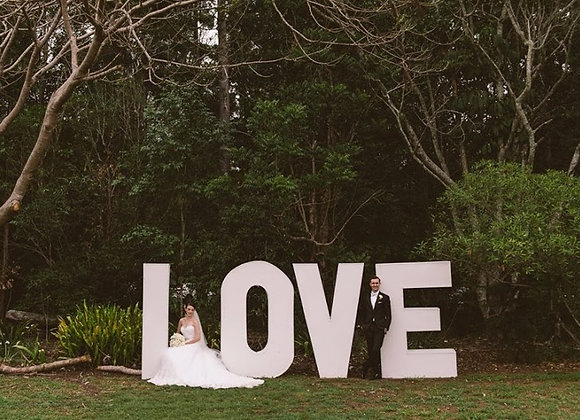 GIANT LOVE LETTERS 2 METRE