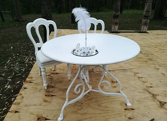 WROUGHT IRON SCROLL TABLE ROUND