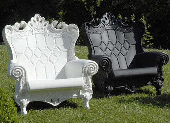 FRENCH QUEEN CHAIR WHITE