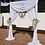 Thumbnail: 2 Leg Arbour - Chiffon Draping White with swag