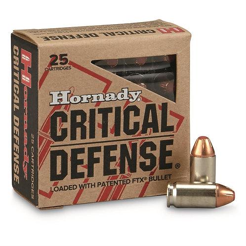 Hornady Critical Defense 9mm 115 Grain FTX Bullet