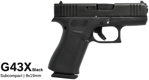 Glock 43x - Black