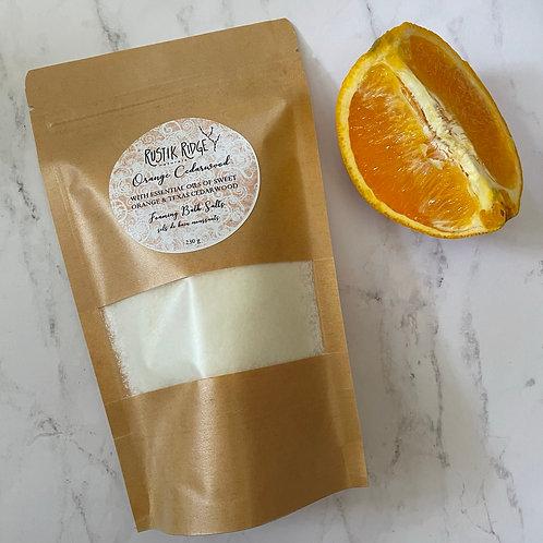 Orange Cedarwood Foaming Bath Salts