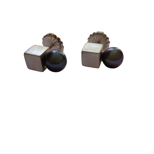 Black Betty Block Earrings