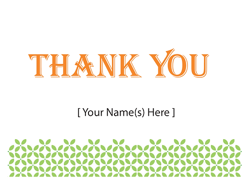 Add-on Greeting Card: Thank You