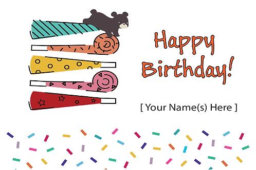Add-on Greeting Card: Happy Birthday