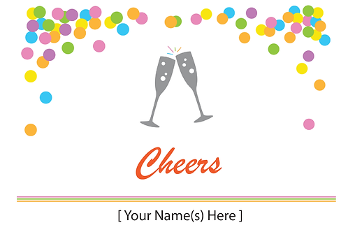 Add-on Greeting Card: Cheers