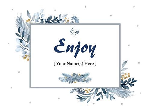 Add-on Greeting Card: Enjoy