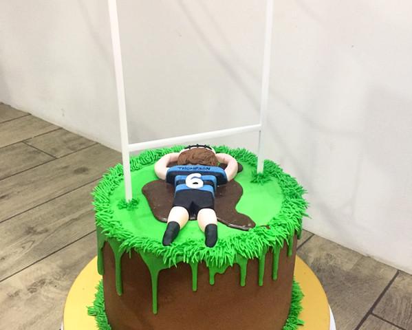 Lasercut Acrylic Cake Topper Goalposts