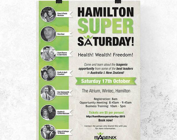 Isagenix Hamilton Poster