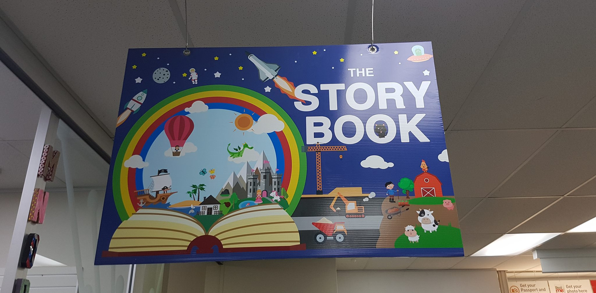 Paperplus Story Book Sign